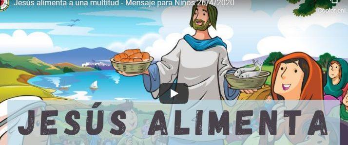 Jesús alimenta a una multitud